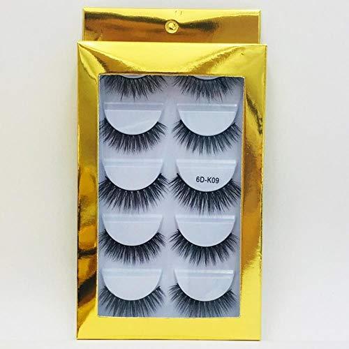 XZY Mixed Styles Hair False Eyelashes Handmade Long Eyelash Wispy Fluffy Multilayer Lashes Reusable,09