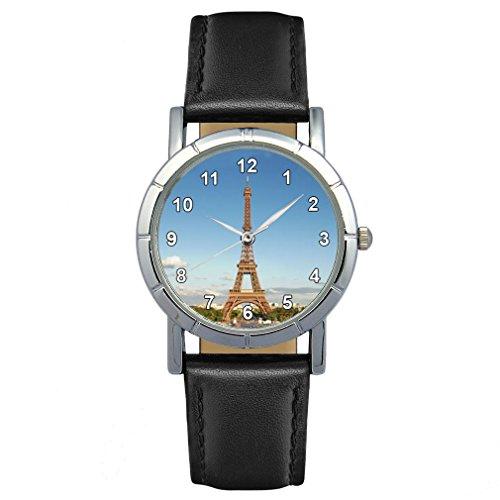 Timest - Torre Eiffel Paris Francia Reloj para Mujer con Correa de Piel Analógico Cuarzo SA-Paris
