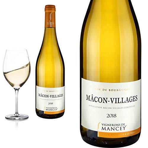6er Karton 2018 Mâcon Villages Les Vignerons de Mancey Weißwein