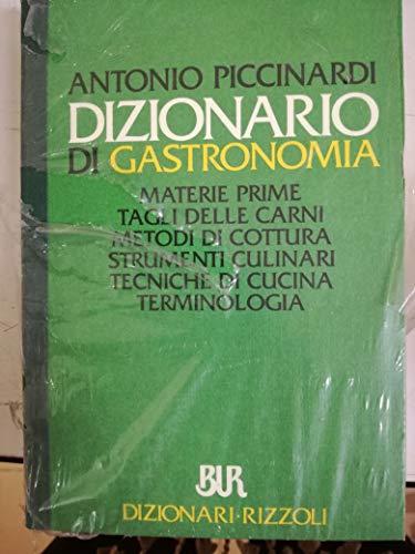 Dizionario di gastronomia