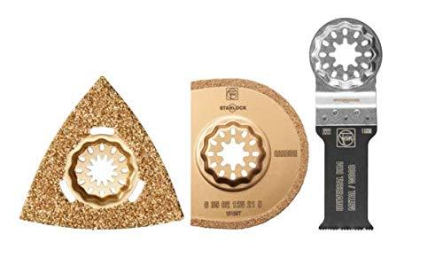 FEIN 35222952500 Sanitär - Juego de accesorios para MultiMaster y MultiTalent (3 piezas)