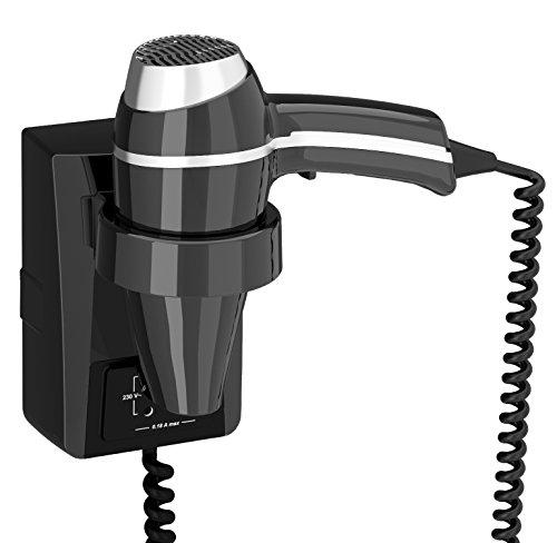Secador de pelo Clipper II negro + Soporte Toma Afeitadora monotension + on/off