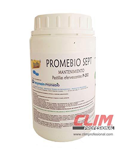 Pastillas biológicas para eliminar materia orgánica, grasas y olores en arquetas y fosas sépticas o WC portátiles. Caja 24 pastillas