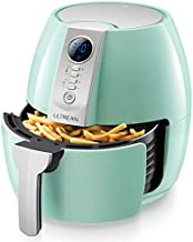 Ultrean Air Fryer, 4.2 Quart (4 Liter) Electric Hot Air Fryers Oven Oilless Cooker with LCD Digital Screen and Nonstick Frying Pot, UL Certified, 1-Year Warranty, 1500W (Blue)