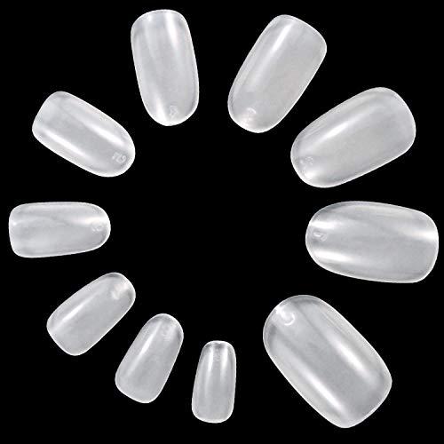 ANEWISH 500 Stück Natürliche Farbe Künstliche Fingernägel Falsche-Fingernägel Kunstnagel Nagel Fake Nägel Nagelspitzen für DIY-Nagelkunst und Nagelstudios, 10 Größen