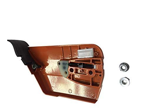 ENGINERUN - Cubierta de embrague de freno de cadena compatible con motosierras Husqvarna 362 365 371 372 372XP 385 390 570 575 OEM 537 03 35-71,537033571
