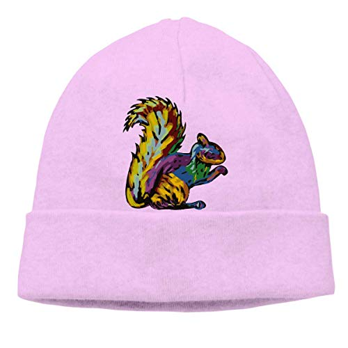 XCNGG Gorro de Punto Gorro de Lana Unisex Abstract Squirrel Knitted Cap, Wool Beanies Cap