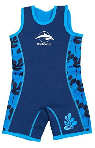 Konfidence Warma, Neopren-Anzug für Kinder Gr. 2-3 Jahre, Blue Palm