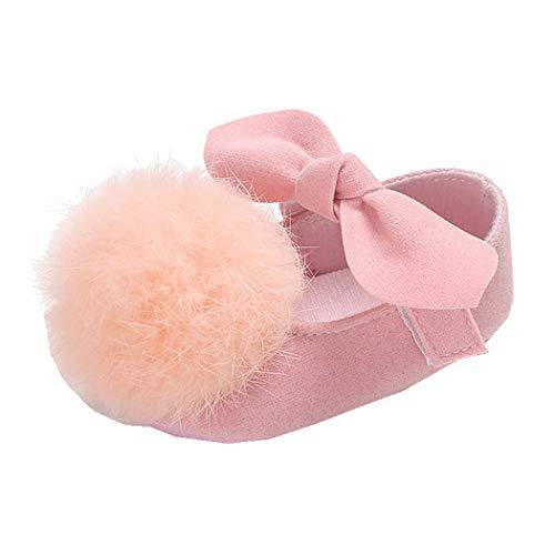 Allskid Nouveau née Chaussures Bébé Filles Boule de Cheveux Mignonne Décoration Velcro Rose Princesse Bambin Chaussures Premiers Pas