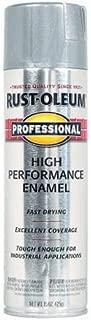 Rust-Oleum 7515838 Professional High Performance Enamel Spray Paint, 14 oz, Aluminum