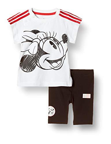 adidas Kinder Kinder Sportanzug Inf Dy Minnie Mouse Sportanzug, White/Vivred, 104, GD3726