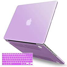 IBENZER MacBook Pro 13 Inch Case 2012-2015, Soft Touch Hard Case Shell Cover with Keyboard Cover for Apple MacBook Pro 13 with Retina Display A1425 1502, Purple, R13PU+1 A