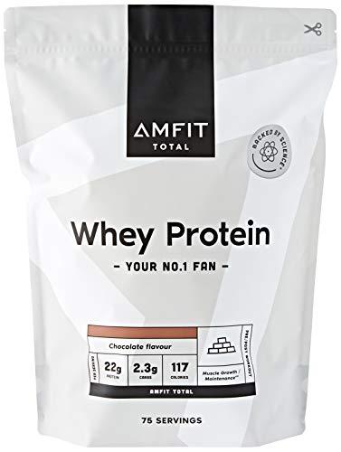 Marca Amazon - Amfit Nutrition Proteína de Suero de Leche en Polvo 2.27kg - Chocolate (anteriormente PBN) ⭐