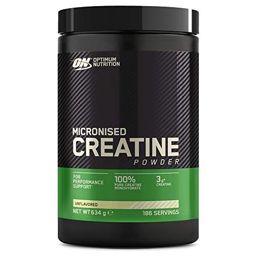Optimum Nutrition Creatin Monohydrat Pulver, ON Kreatin hergestellt für Leistungssteigerung, 186 Portionen, 634g, Verpackung kann Variieren