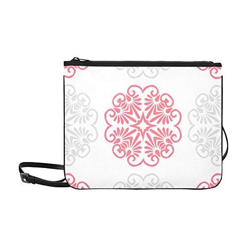 Fashion School Tasche Pink Grey Deckchen Fliesen Wallpaper Verstellbarer Schultergurt Travel Fashion Bag Für Frauen Mädchen Damen Clutch Bag Handtasche Geldbörsen Und Handtaschen Crossbody