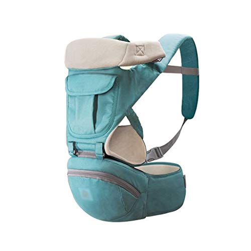 TMY 0-24 Mois Avant Respirant Porte-bébé Sacs à Dos Sac à Dos Confortable Sling Pochette Wrap Transporteur réglable (Color : Green)