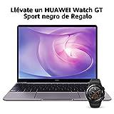 HUAWEI WrightB Matebook 13 2020 - Ordenador Porttil Ultrafino 13' 2K (Intel Core i5-10210U, 8GB RAM, 512GB SSD, Windows 10 Home), Gris + Watch GT Sport Black, Teclado QWERTY Espaol