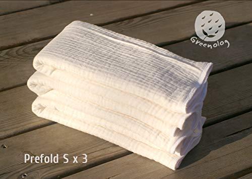 Prefold Einlage für Stoffwindeln S(2.5kg-10kg) x 3 / L(9kg-19kg) x3
