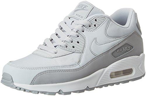 Nike Air Max 90 Essential, Zapatillas Hombre, Gris (Wolf Gr E Y Pure Platinumwhite 088), 40.5 EU