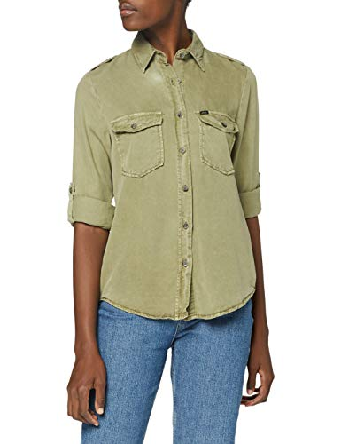LTB Jeans Damen Simele Hemd, Soft Vetiver Wash, M
