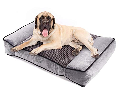 Pecute Shredded Memory Foam Orthopedic Pet Bed