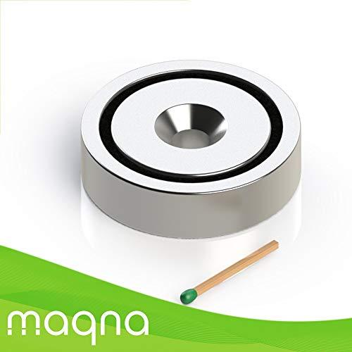 Topfmagnet mit Bohrung und Senkung, D=48 mm, H=11.5 mm, Bohrung 8.5 mm, Grade N42