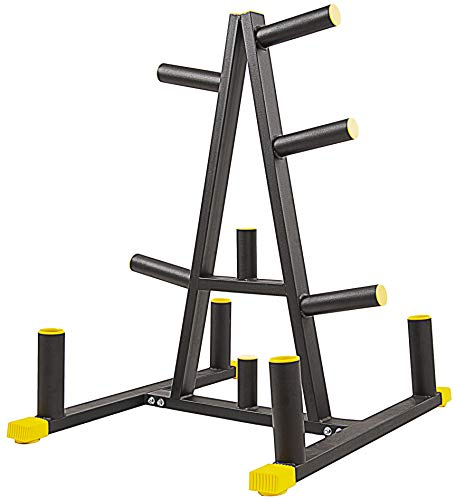 BalanceFrom 2-Inch or 1-Inch Weight Plate Rack with Barbell Holders, 600-Pound Capacity (for 2-Inch Gear), Black
