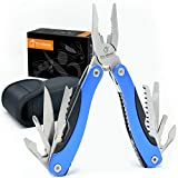 Multitool Knife. 15 in 1 Portable Pocket Multifunctional Multi Tool. Folding Saw, Wire Cutter, Pliers, Sheath. Multipurpose, Survival, Camping, Fishing, Hunting, Hiking, Car Set.