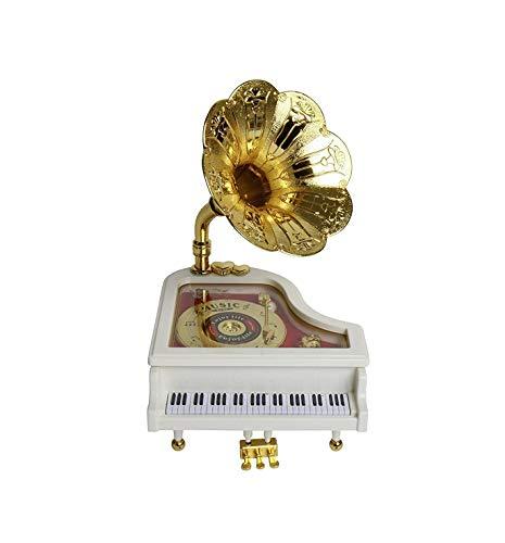 takestop® muziekdoos piano met rooster in wit klassieke navulling, muziek Melodia box decoratie huis huis huis huis huis huis huis huis huis huis huis huis huis huis huis huis huis kamer STANZETTA