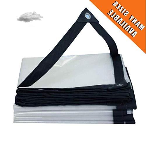 SACYSAC Transparant regendicht doek, plastic doek, raambekleding, regen- en hittebestendig dekzeil, met perforatie