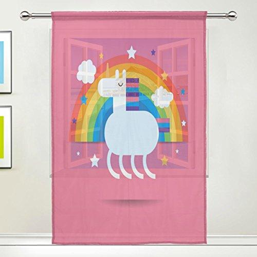 Use7 Vorhang, Motiv Union Jack, Regenbogenstern, 139,7 x 19,8 cm, 1 Stück, modern, für Wohnzimmer, Schlafzimmer,...