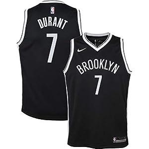 Outerstuff Kevin Durant Brooklyn Nets NBA Nike Boys Kids 4-7 Black Icon Edition Swingman Jersey