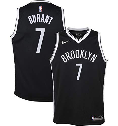 Outerstuff Kevin Durant Brooklyn Nets NBA Nike Boys Kids 4-7 Black Icon Edition Swingman Jersey (Kids 4)