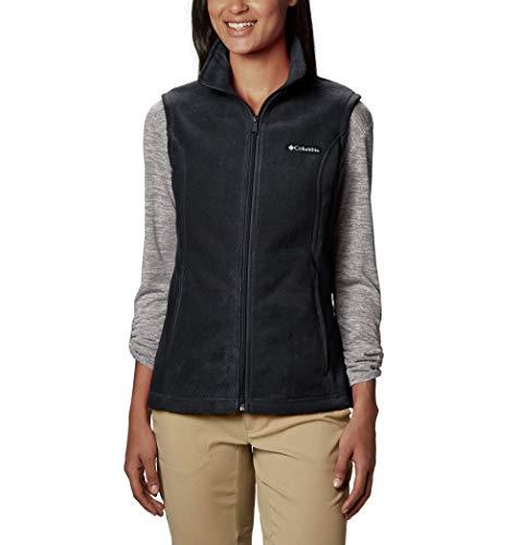Columbia Women's Plus Size Benton Springs Soft Fleece Vest, BLACK, 3X