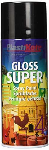 Plasti-kote PKT1100 1100 400ml Super Gloss Spray Paint-Black