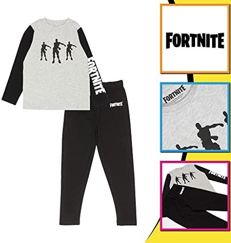 Fortnite El Hilo Dental emotes Chicos Larga Pijamas Set Negro ...
