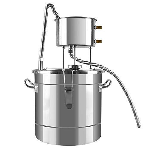 QIDIAN Neuer DIY 22L Alkohol-Destillator Hausbrauerei-Kit&Kupferkühlung Hausweinherstellung Mondschein-Stillwasser-Destillation Brauerei-Fermentertank (Rostfrei)
