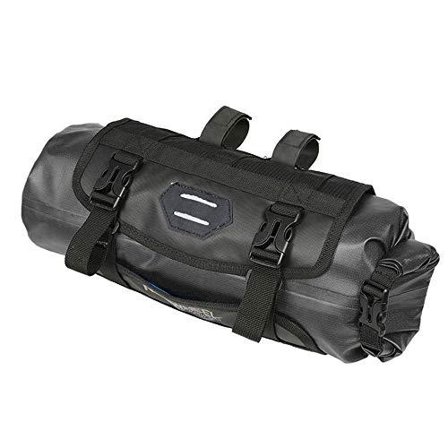 Battitachil Fahrradlenker Aufbewahrungstasche Front Frame Bag Fahrrad-Oberrohr-Sattel-Satteltasche Schnellverschluss-Rahmentasche für das Straßen-Mountainbike (Color : Black, Size : 40 * 15cm)