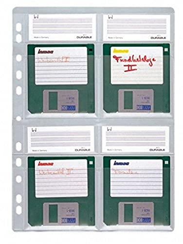 Durable 524319 Diskettenhülle Discoflex A4, Beutel à 5 Stück farblos