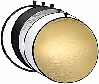 SIZOO - Photo Studio Accessories - 60cm 80cm 110cm 5 in 1 reflectors Portable Collapsible Round Camera Lighting Photo Disc...