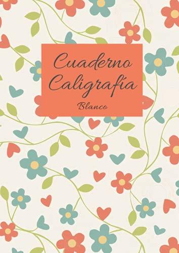 Cuaderno Caligrafía Blanco: Libreta con líneas para caligrafía para niños y adultos para mejorar escritura a mano y lettering - 100 páginas - Tamaño A4
