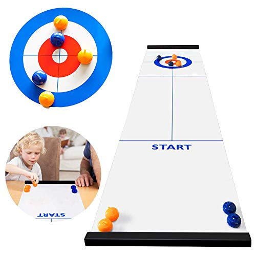 Find Cheap OZMI Tabletop Curling Game, Family Games for Kids and Adults, Mini Desktop Game with 8 Sh...