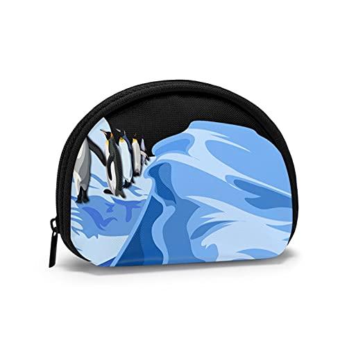 Menyuan Penguins - Bolsa de maquillaje portátil para viaje, bolsa de embrague portátil, almacenamiento de artículos de tocador, bolsa de transporte para mujer con cremallera, Pingüinos1, Talla única,