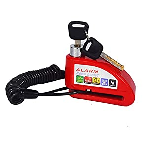 Candado Disco Moto con 1.5M Cable 7mm Alarma 110DB Dispositivos Freno Antirrobo Impermeable Candado Moto y Candado Bolsa de Disco para Motos Motocicletas Bicicletas