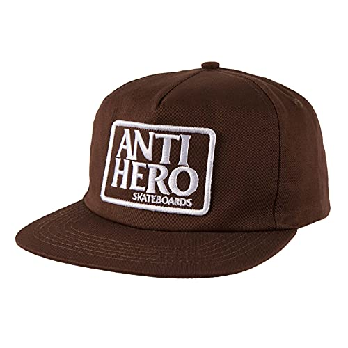 Anti Hero Skateboards Cappello Riserva Patch Snapback Marrone/Bianco