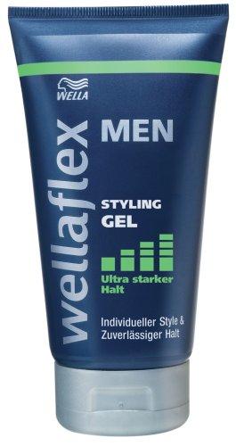 Wellaflex Men Styling Gel Ultra Starker Halt, 3er Pack (3 x 150 ml)