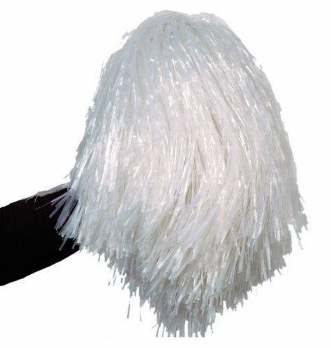 Aptafêtes - AC1310/BLANC - Pom-pom raphia nylon blanc - 45 cm