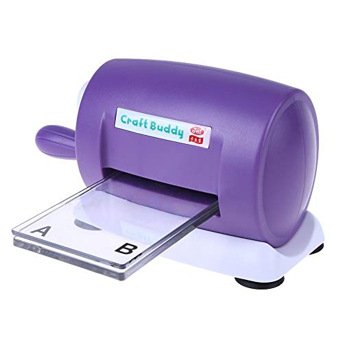 Demiawaking Fustellatrice per Carta DIY Craft Scrapbook Album Cutter Taglio della Carta Goffratrice Cutting Dies Machine per Taglio e Goffratura (Viola)