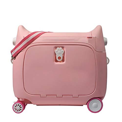 FREEUP Maleta con ruedas para niños, equipaje de mano para niños, 20 L, 2,5 kg, 51 x 20 x 45 cm, multifunción, color rosa