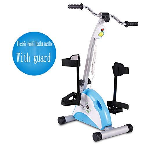 Byfjkkl Pedal De Rehabilitación Bicicleta Estática Motorizado Trainer - Terapia Física Electrónica, Stroke Superviviente - Diseño De Piernas Y Brazos,with Guard